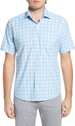 Peter Millar Quint Glen Plaid Short Sleeve Button-Up Shirt