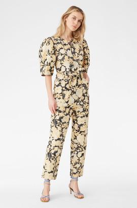 Rebecca Taylor Gold Leaf Fleur Twill Jumpsuit