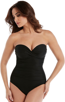 Miraclesuit Rock Solid Madrid Underwired Firm Control Bandeau Swimsuit