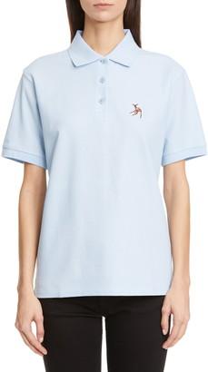 Burberry Copland Deer Applique Cotton Polo