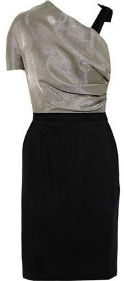 Lanvin Gathered Lame-paneled Crepe Dress