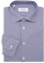 Eton Super-Slim Fit Gingham Dress Shirt