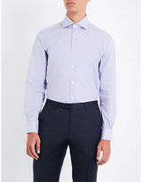 Corneliani Mini gingham regular-fit cotton-poplin shirt