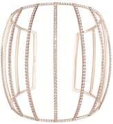 Dauphin White diamond 18k rose gold caged cuff