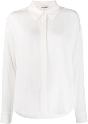 Diane von Furstenberg Long Sleeve Silk Blouse