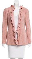 Chanel Wool Ruffle-Trimmed Jacket