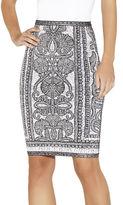 Herve Leger Tempes Bohemian Floral Jacquard Skirt