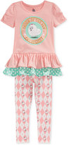 Nannette Little Girls' 2-Pc. Pet Society Tunic & Leggings Set