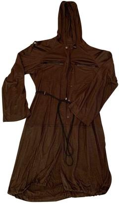 Lanvin Khaki Linen Coat for Women