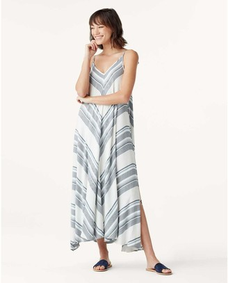 Splendid Striped Maxi Flow Dress - Celeste