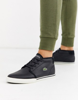 Lacoste amptill chukka boots in black