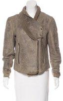 Helmut Lang Shearling Shawl Collar Jacket