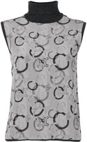 Celine Pre Owned Macadam pattern knitted top