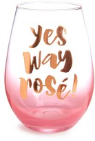 Slant Collections Yes Way Rose Stemless Wine Glass