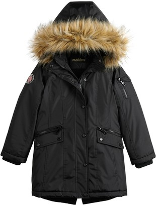 Girls 7-16 madden NYC Parka with Cinched Waist Jacket