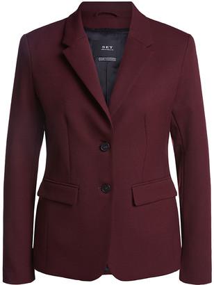Set Fashion - Fitted Blazer Amerone - Size 34 (Size 8) - Burgundy