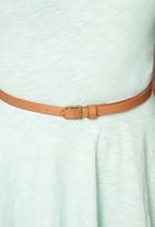 Forever 21 Slub Knit Skater Dress w/ Belt