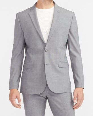 Express Extra Slim Solid Gray Modern Tech Suit Jacket