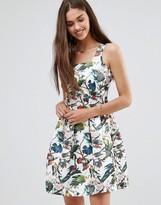 Darling Floral Skater Dress