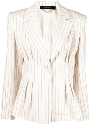 FEDERICA TOSI Frayed Stripes Blazer