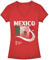 Fifth Sun Red Mexico Flag Ball FIFA World Cup 2018 V-Neck Tee - Juniors