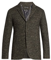 John Varvatos Single-breasted Wool And Linen-blend Jacket