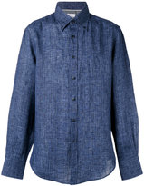 Brunello Cucinelli stripe shirt - men - Linen/Flax - M