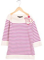 Little Marc Jacobs Girls' Striped Embroidered Top w/ Tags