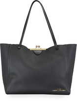 Marc Jacobs The Kiss-Lock Leather Tote Bag