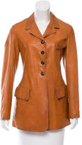 Jil Sander Leather Fitted Jacket