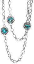 "Lagos Maya Silver Station Necklace, 36""L"