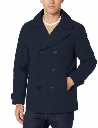 Amazon Essentials Wool Blend Heavyweight Peacoat Pea Coat