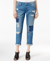 Tommy Hilfiger Paisley Ripped Medium Blue Wash Boyfriend Jeans, Only at Macy's