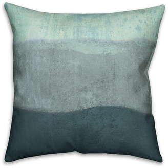 Ddcg Blue Ombre Coastal Stripes Spun Poly Pillow, 18x18