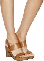 Office Michelle Wood Sandals