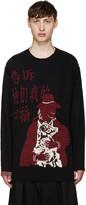 Yohji Yamamoto Black Kanji & Dog Sweater