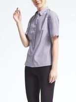 Banana Republic Stripe Scallop-Edge Shirt