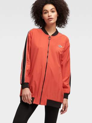 DKNY Perforated Logo Bomber Jacket