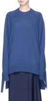 Tibi Knotted sash cashmere sweater