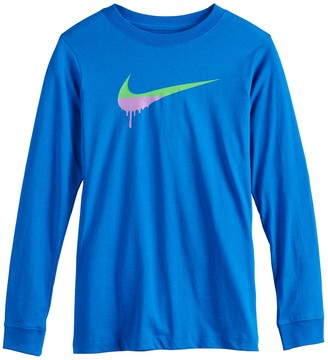 Nike Boys 8-20 Dripped Paint Swoosh Tee