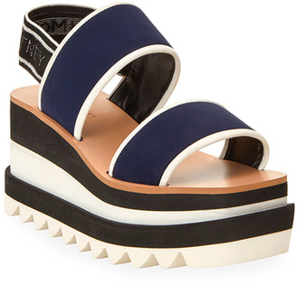 Stella McCartney Strappy Wedge Slingback Sandals