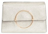 Milly Metallic Leather Clutch - Metallic