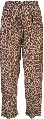 Mes Demoiselles Steven leopard-print trousers