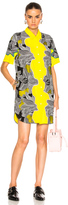 3.1 Phillip Lim Short Sleeve Surf Floral Dress in Black,Floral,Yellow.