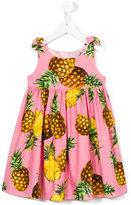 Dolce & Gabbana pineapple print dress - kids - Cotton/Viscose - 6 yrs