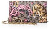 Gucci Bengal-Print GG Supreme Canvas Chain Wallet