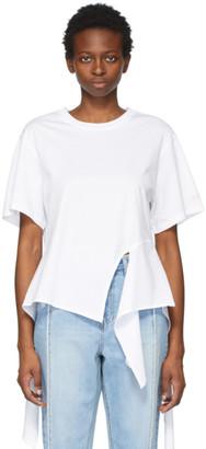 Sjyp White Cropped Back T-Shirt
