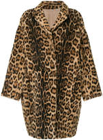 Yves Salomon lamb skin reversible coat