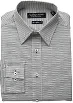 Nick Graham Men's Squiggle Neat Print Dress Shirt
