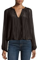 Ramy Brook Ginger Long-Sleeve Peasant Top
